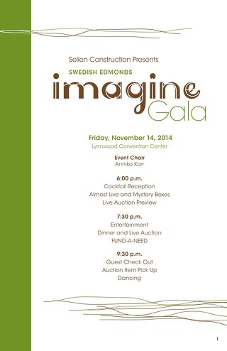 2014 Imagine Gala - Auction Catalog