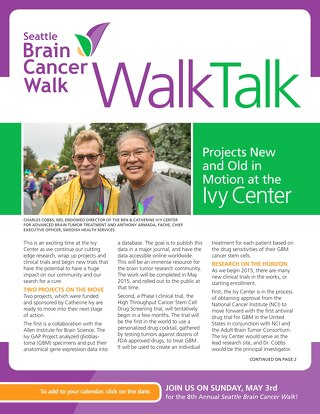 Seattle Brain Cancer Walk - WalkTalk - February 2015