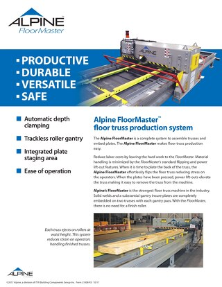 FloorMaster Floor Truss Production System