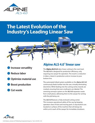 ALS 4.0 Linear Saw