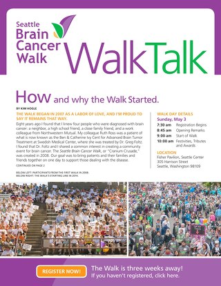 WalkTalk - Spring 2015 - Seattle Brain Cancer Walk
