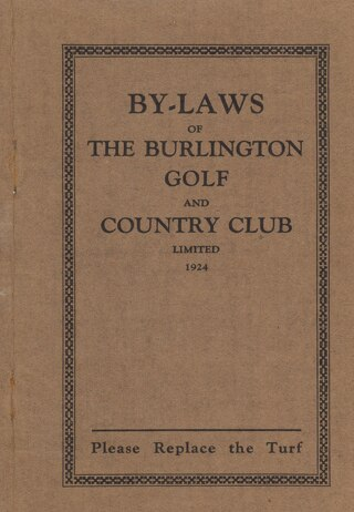 1924 By-Laws of The Burlington Golf and Country Club
