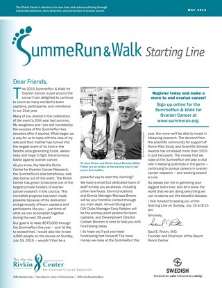 2015 SummeRun & Walk for Ovarian Cancer - Starting Line - June 2015
