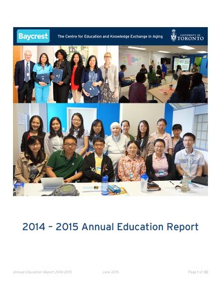 Baycrest Annual Education Report 2014-15