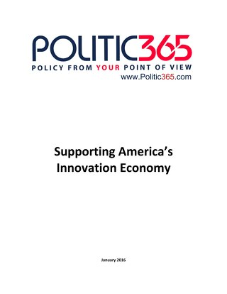 Politic365-Innovation Economy Newsletter