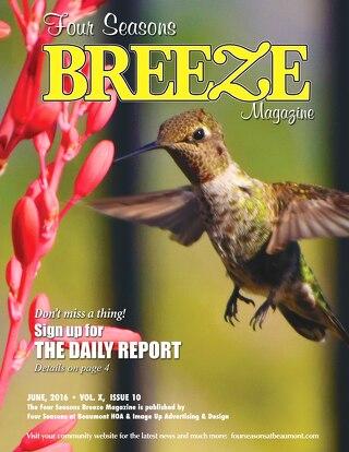 Four Seasons Beaumont Breeze June 2016