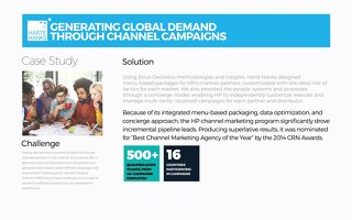 Generating Global Demand Through Channel Campaign