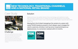 New Technology, Traditional Channel and National Retail Brand