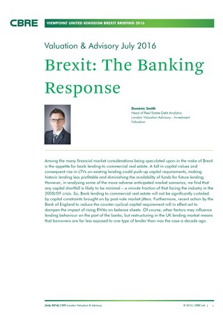 Brexit: The Banking Response