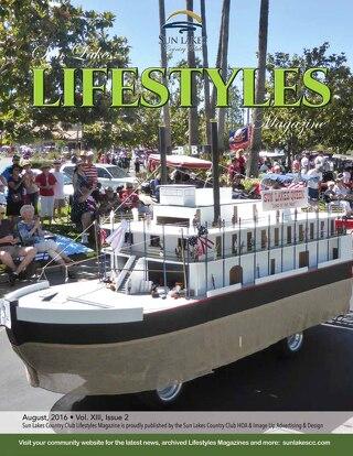 Sun Lakes Lifestyles, August 2016
