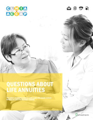 Questions about life annuities