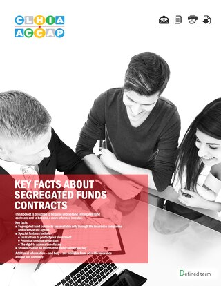 Key facts about segregated fund contacts