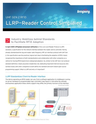 LLRP - Reader Control Simplified