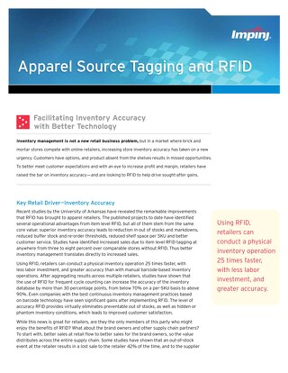 Apparel Source Tagging and RFID