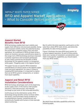 RFID and Apparel Market Applications - What to Consider Before Installation