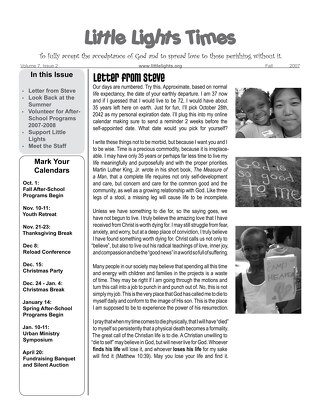2007 Fall Newsletter
