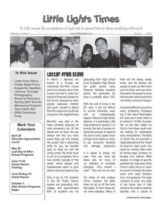 2007 Spring Newsletter
