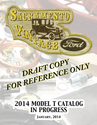 Model T Ford  Parts Catalog - Draft Copy 1-2014