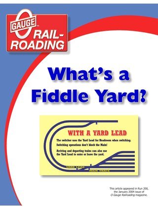 What's A Fiddle Yard?
