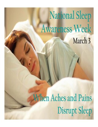 National Sleep Awareness Week 2014 #1