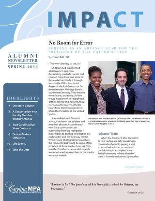 Impact Newsletter Spring 2013