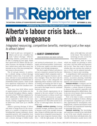 HR Reporter: Alberta Labour Crisis Back With A Vengeance - September 12