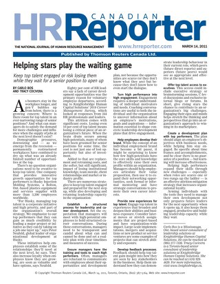 HR Reporter: Helping Stars Play The Waiting Game - March 2011