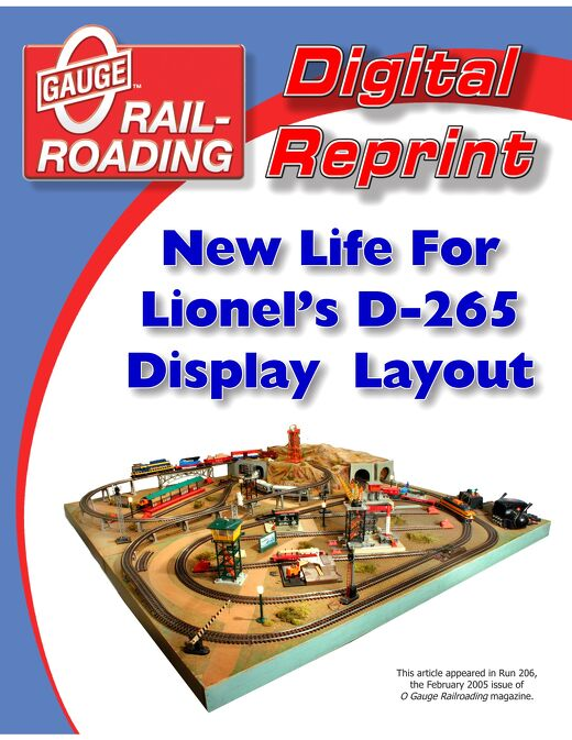 New Life For Lionel's D265 Display Layout