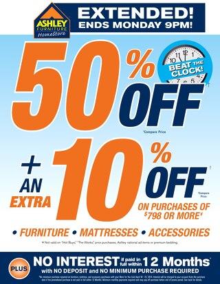 Ashley Furniture HomeStore-Beat the Clock!