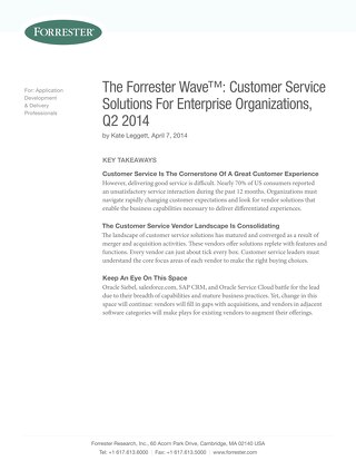 The Forrester Wave™ Customer Service Solutions For Enterprise Organizations Q2 2014.pdf