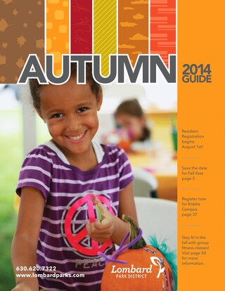 2014 Lombard Park District's Autumn Brochure